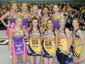 Emmerdale and Coronation Street stars at netball game