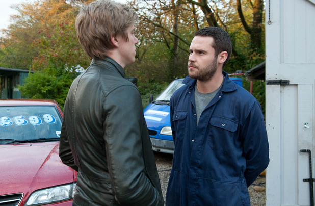Aaron is disgusted at Robert games but Robert is keen to make amends with him.
