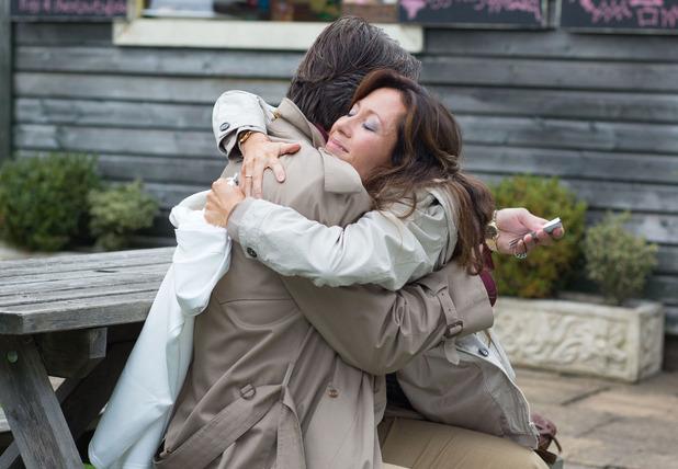 Marta hugs Aleks