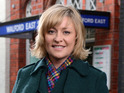 Laurie Brett reveals details of her first week back on EastEnders.