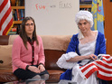 Mayim Bialik and Jim Parsons in The Big Bang Theory S08E10: 'The Champagne Reflection'