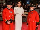 Angelina Jolie attends Unbroken premiere with Chelsea Pensioners