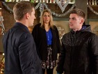 Ste sees Amy and the kids with his abusive stepfather.