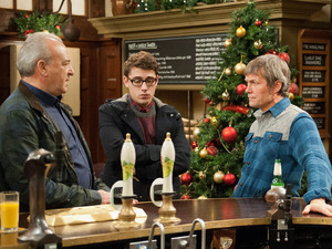 Lawrence reveals it is he who is behind the Barton's troubles and warns they will continue until Ross Barton [MICHAEL PARR] admits the truth