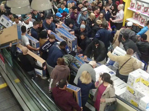 A Tesco store on Black Friday 2014