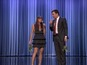 Rashida Jones, Jimmy Fallon sing festive hits