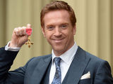Damian Lewis is awarded with an OBE at Buckingham Palace in London