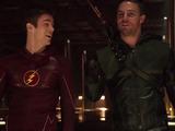 Flash vs Arrow crossover