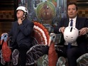 Who will triumph when Jimmy Fallon and Tim Allen race turkeys?