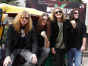 David Ellefson, Dave Mustaine, Shawn Drover and Chris Broderick of Megadeth