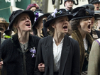 Domestic violence protesters block red carpet at Carey Mulligan's Suffragette premiere