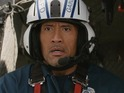 Dwayne Johnson risks his life to save a woman in need, in a clip from the disaster epic.