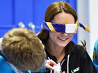 Kate Middleton wears hoodie, is blindfolded at Beaver Scout meeting
