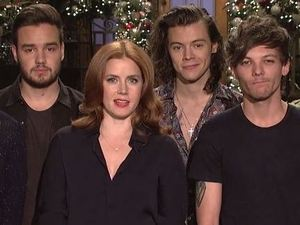 Amy Adams and One Direction on Saturday Night Live