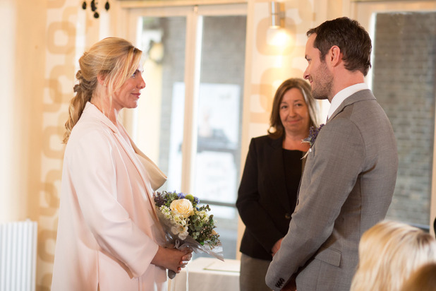 Ronnie Mitchell and Charlie Cotton's big day