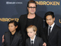 Brad Pitt and kids stand in for Jolie