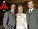 George Clooney, Joanna Lumley and Hugh Bonneville take part in the Downton Abbey Text Santa sketch