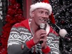 Watch Dwayne 'The Rock' Johnson sing 'Here Comes Santa Claus'