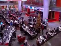 The BBC News Channel staff have some fun...  it's Christmas after all!