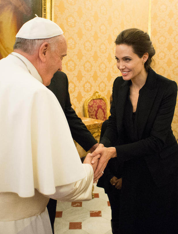 Pope Francis meets Angelina Jolie, Vatican City, Rome, Italy - 08 Jan 2015Pope Francis I meets Angelina Jolie during a private audience 8 Jan 2015
