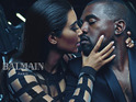 Celebrity couple prepare to smooch in sultry campaign for luxury fashion label.