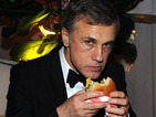 Christoph Waltz shows off his menacing Bond villain temperament at Golden Globes.