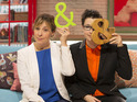 The Great British Bake Off hosts talk to Digital Spy about punning and presenting.