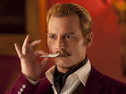 Johnny Depp has a few close shaves as a moustachioed art thief.