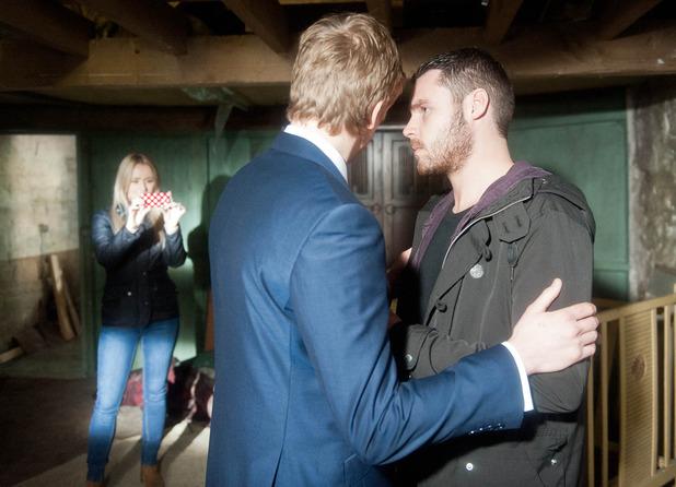 Katie walks in on Robert and Aaron