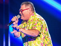 'Agadoo' band's frontman Dene Michael tries to impress the judges.
