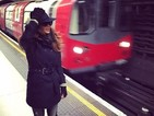 Nicole Scherzinger rides London Underground for the first time