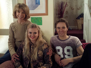 Corrie newcomer Lucy Fallon with her on-screen family