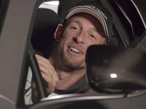 Jenson Button in spoof Back to the Future McLaren promo