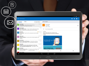 Outlook on an Android tablet
