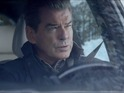 Brosnan turns baddie as an assassin following Jovovich's foreign service officer.