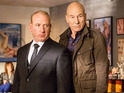 Sir Patrick Stewart tries to inform Americans through cable news in sitcom.