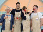Alexa Chung, Chris Moyles, Kayvan Novak and Victoria Wood hit the Bake Off tent.