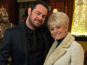 Actress also discusses Peggy Mitchell's first meeting with Mick Carter.