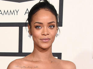 Rihanna arriving at the 57th Annual Grammy Awards