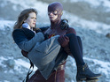 Danielle Panabaker as Caitlin Snow and Grant Gustin as The Flash in The Flash S01E13: 'The Nuclear Man'