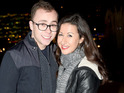 Hayley Tamaddon and Joe Tracini kiss at a party in Manchester.