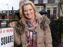 The first photos of Gillian Taylforth making her return as Kathy are released.