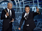 Video: Watch Oscar-winning duo's touching performance of Selma track 'Glory'.