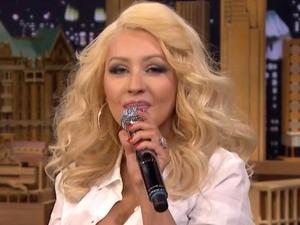 See Christina's hilarious Britney impression