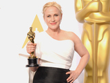 Patricia Arquette, with the award for best actress in a supporting role, in the press room during the 87th Annual Academy Awards