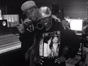 The 'Work It' rapper uploads a picture of the pair in studio.