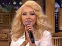 Singer also impersonates Cher and Shakira on Jimmy Fallon's chatshow.