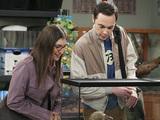 Mayim Bialik & Jim Parsons in The Big Bang Theory S08E17: 'The Colonization Application'