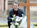 Jack P Shepherd is pictured filming a big moment for David out on location.