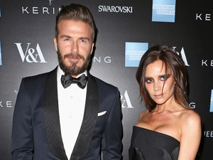 David & Victoria Beckham at the Alexander McQueen: Savage Beauty Fahsion Gala at the V&A